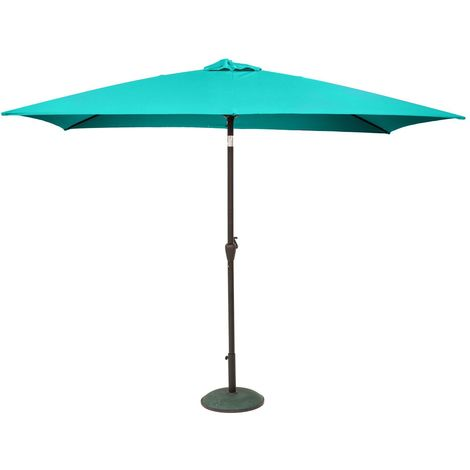 Parasol inclinable Fidji - 200 x 300 cm - Bleu émeraude