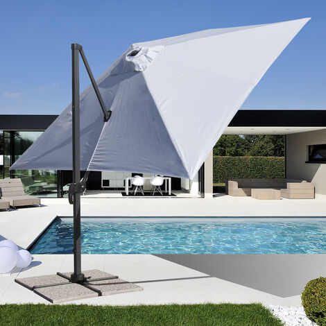 Parasol jardín 3x3 brazo aluminio cuadrado Paradise