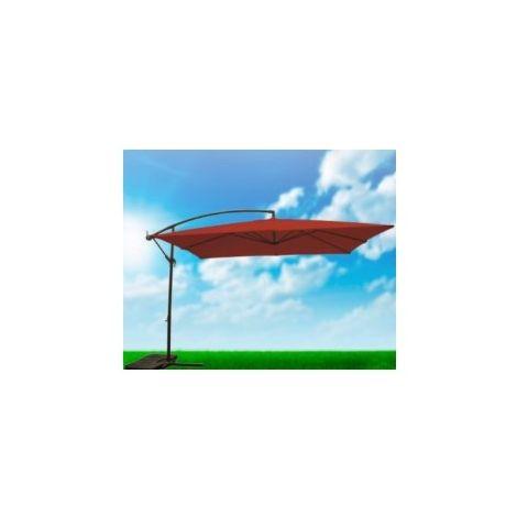 Parasol Jardin 3X3 M Lateral Natuur Acero Terra Cdo. Nt123516