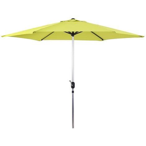 "Parasol jardin droit Alu ""Sol"" - Rond - Ø 3m - Vert"