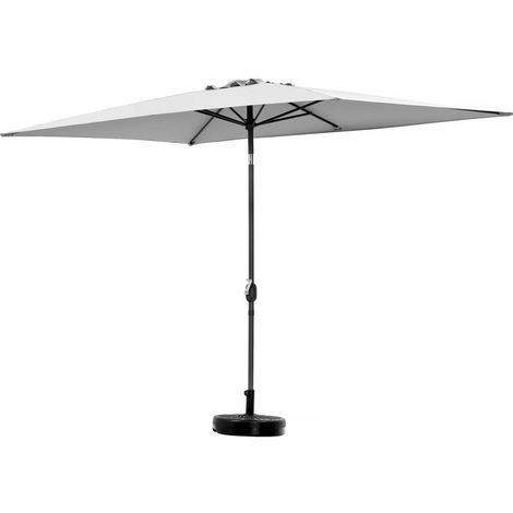 "Parasol jardin ""Sol 2"" - Rectangle - 2 x 3 m - Gris"