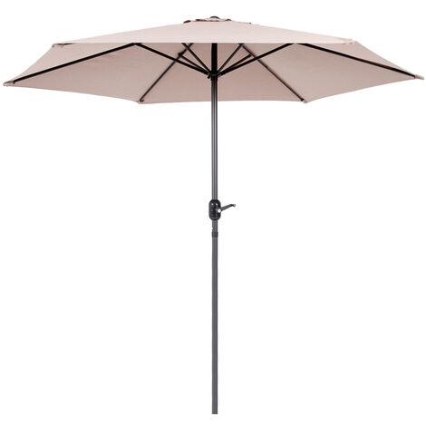 """main image of """"Parasol jardín Stella con ventilación topo de aluminio de Ø300 cm"""""""