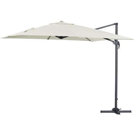 Parasol lateral de jardín en aluminio - Sun 3 - Cuadrado - 3 x 3 m - Crudo