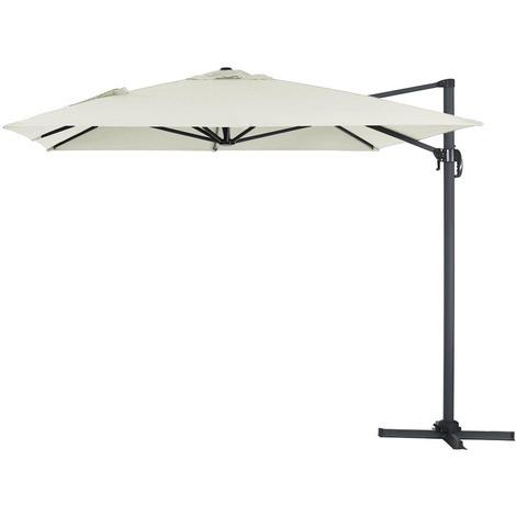 Parasol Lateral de jardín en aluminio - Sun 4- Rectangular- 3 x 4 m - Crudo