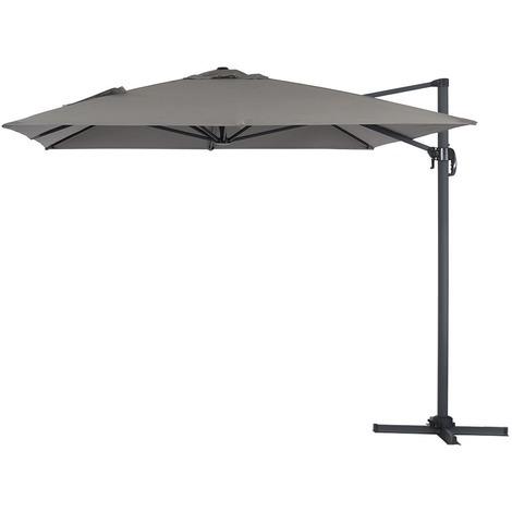 Parasol Lateral de jardín en aluminio - Sun 4- Rectangular- 3 x 4 m - Gris