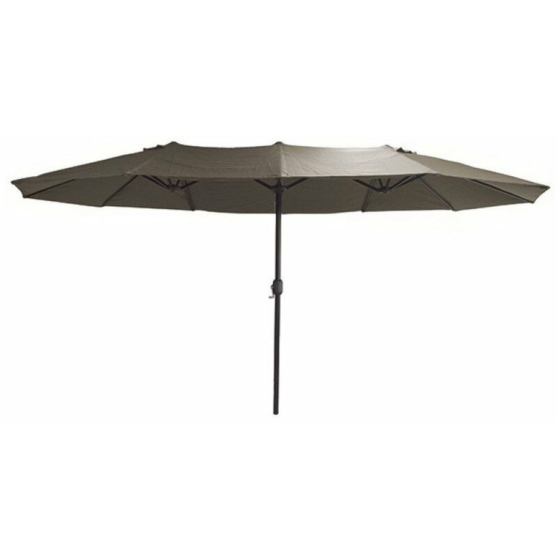 Parasol ovale 4.5 x 2.7m - Toile Taupe