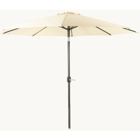 Parasol para jardín de aluminio | Mástil central | Redondo 300 cm | Salida de viento | Tela gramaje 200 gr color beige | Portes gratis