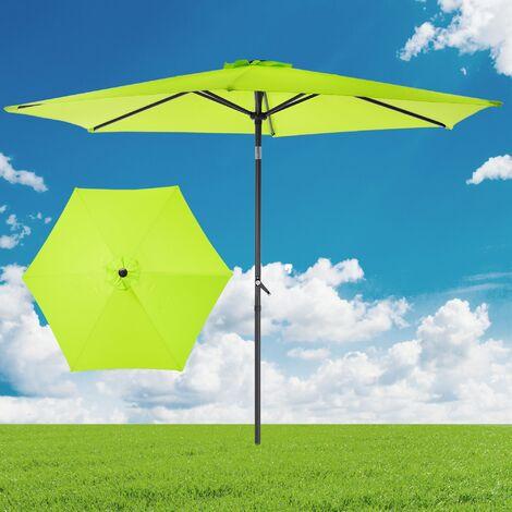 "main image of ""Parasol parapluie pare soleil jardin inclinable manivelle Ø3m vert protection UV"""