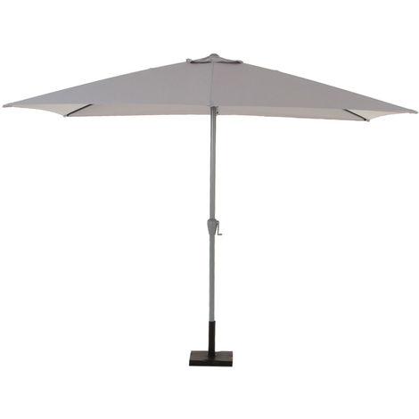 Parasol rectangulaire aluminium Fidji 2 x 3 m Gris clair