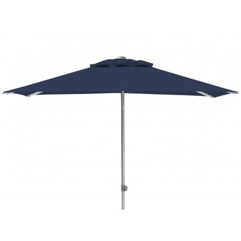 Parasol rectangulaire centré coloris Argent/ bleu, UPF 50+ - Dim : 150 x 210 cm - PEGANE -