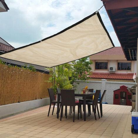 "main image of ""Parasol rectangular Sombra solar Vela Impermeable Toldo para el sol Jardín al aire libre 2x1.8m"""
