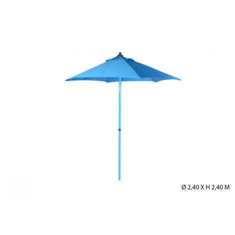 parasol rond 2.4m bleu foncé inclinable