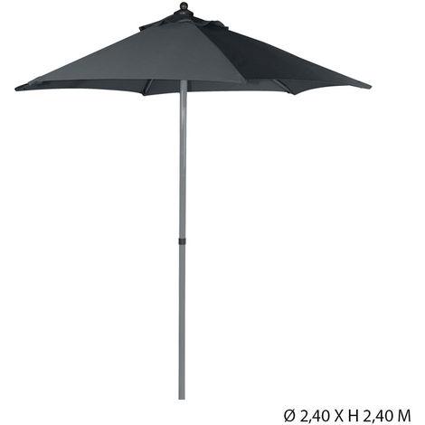 parasol rond 2.4m gris foncé inclinable