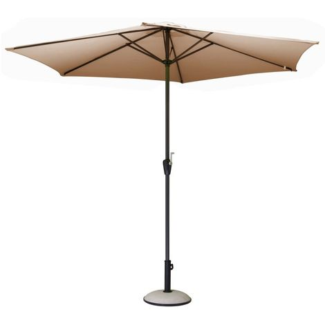 Parasol rond 3m Toile polyester Taupe