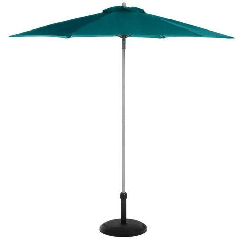 Parasol rond Anzio bleu canard Hespéride - Bleu canard