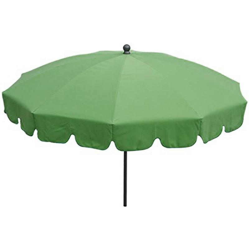 Pegane - Parasol rond centré coloris Vert - Dim : H 230 x D 200/10 cm