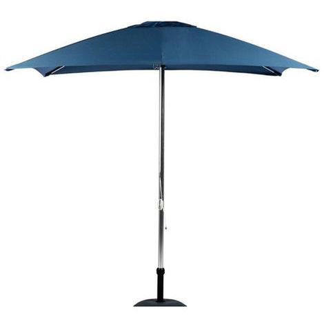 Parasol rond en aluminium coloris Bleu 3 M - Dim : D.3 x H 2,40M -PEGANE-