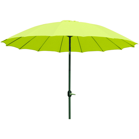 Parasol rond en aluminium coloris vert - Dim : D 2,50 X 2,40 M -PEGANE-