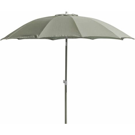 Parasol rond inclinable aluminium 2,70m Taupe