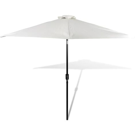 Parasol Sand White 3m Steel Pole