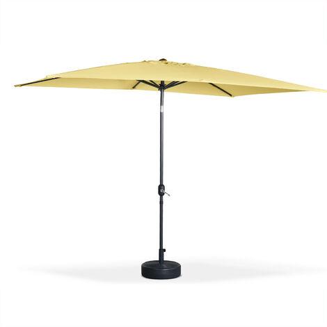 Parasol, sombrilla central, rectangular, amarillo pastel, 2x3m | Touquet
