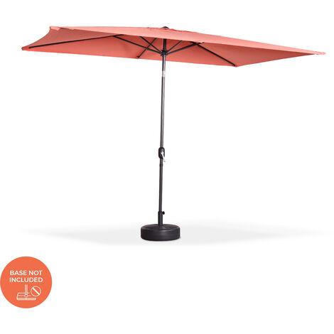 Parasol, sombrilla central, rectangular, melocotón, 2x3m | Touquet
