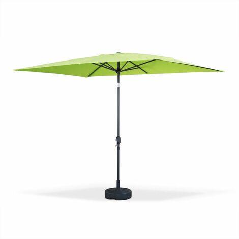 Parasol, sombrilla central, rectangular, verde, 2x3m | Touquet