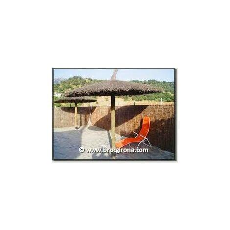 Parasol Sombrilla De Brezo 2.40 Mts Jardin Para Playa Y Piscina