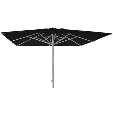 Parasol téléscopique centré carré coloris Noir 330x330 cm