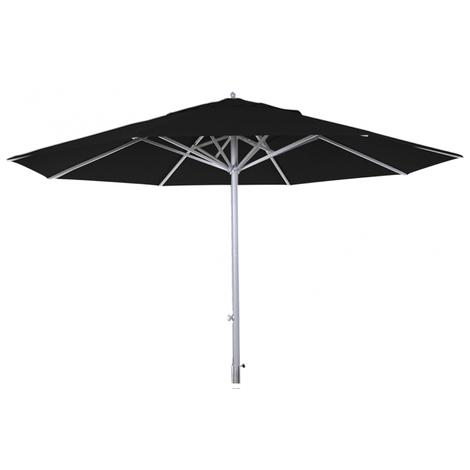Parasol téléscopique centré rond coloris Noir 400 cm