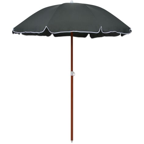 Parasol with Steel Pole 180 cm Anthracite