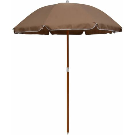Parasol with Steel Pole 180 cm Taupe