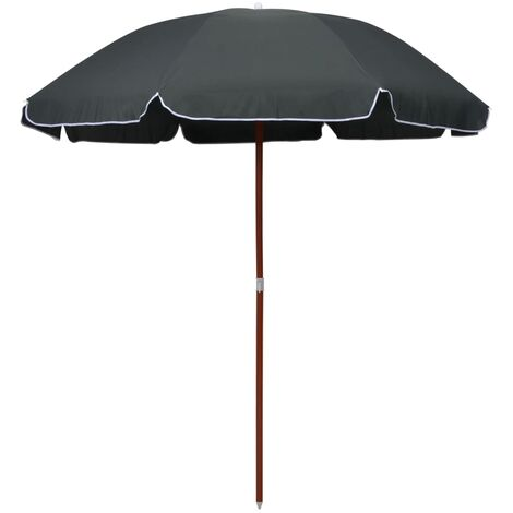 Parasol with Steel Pole 240 cm Anthracite