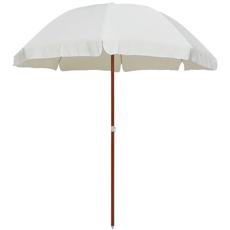 Parasol with Steel Pole 240 cm Sand