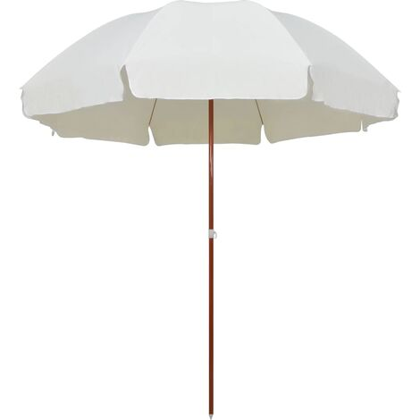 Parasol with Steel Pole 300 cm Sand