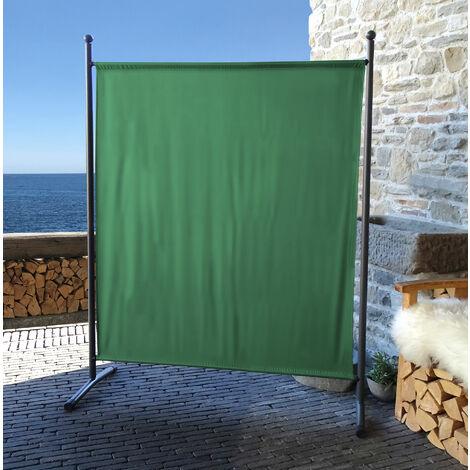 Paravent 150 x 190 cm tela separador de ambientes partición jardín grande Biombo tabique balcón privacidad Verde