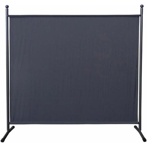 Paravent 180 x 178 cm Séparateur de tissu Jardin Balcon Écran de confidentialité partition Gris