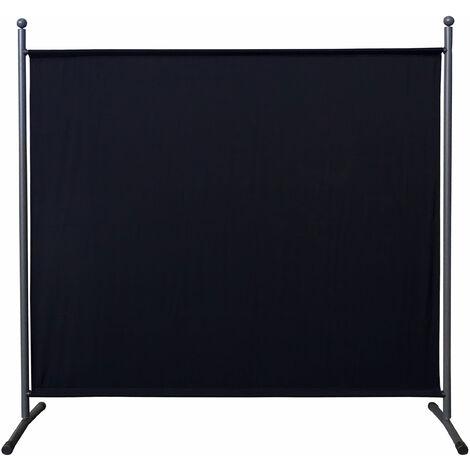 Paravent 180 x 178 cm Séparateur de tissu Jardin Balcon Écran de confidentialité partition Noir