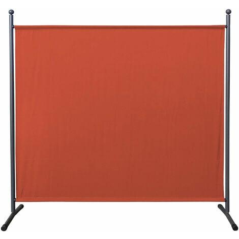 Paravent 180 x 178 cm Séparateur de tissu Jardin Balcon Écran de confidentialité partition Rouge-Orange