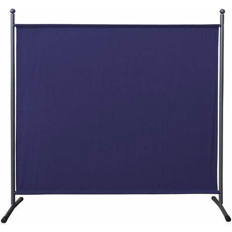 Paravent 180 x 178 cm tela separador de ambientes partición jardín grande Biombo tabique balcón privacidad Azul
