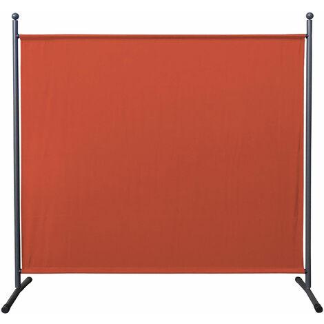 Paravent 180 x 178 cm tela separador de ambientes partición jardín grande Biombo tabique balcón privacidad Rojo Naranja