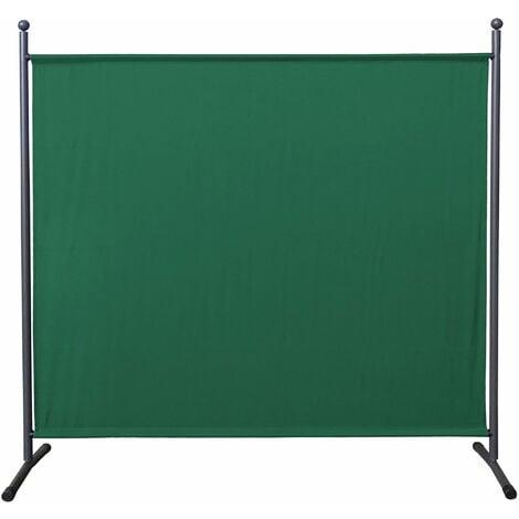 Paravent 180 x 178 cm tela separador de ambientes partición jardín grande Biombo tabique balcón privacidad Verde