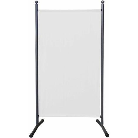 Paravent 180 x 78 cm Séparateur de tissu Jardin Balcon Écran de confidentialité partition Blanc