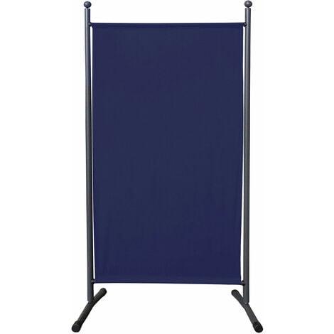 Paravent 180 x 78 cm tela separador de ambientes partición jardín grande Biombo tabique balcón privacidad Azul