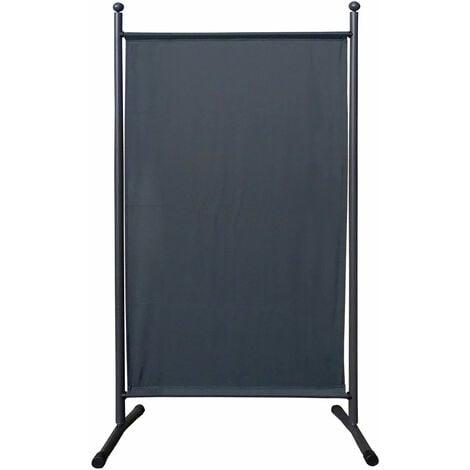 Paravent 180 x 78 cm tela separador de ambientes partición jardín grande Biombo tabique balcón privacidad Gris