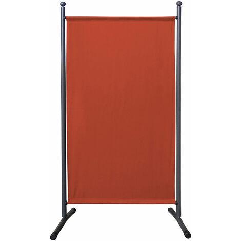 Paravent 180 x 78 cm tela separador de ambientes partición jardín grande Biombo tabique balcón privacidad Rojo Naranja