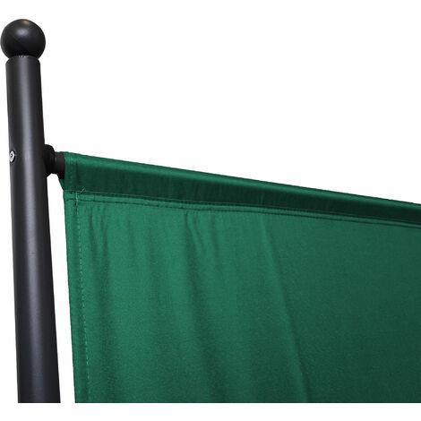 Paravent 180 x 78 cm tela separador de ambientes partición jardín grande Biombo tabique balcón privacidad Verde