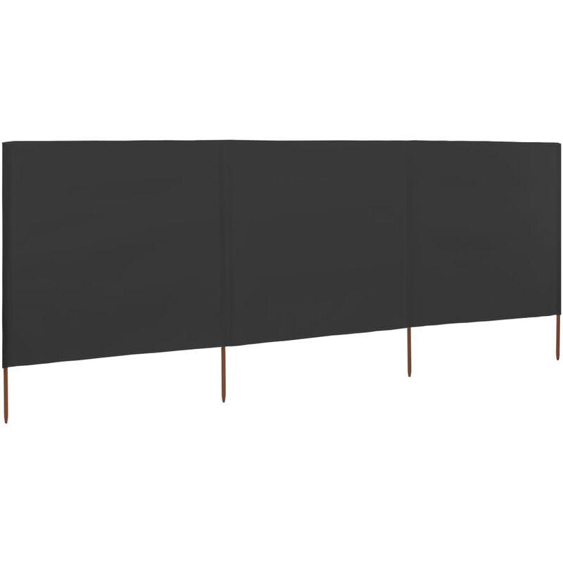 Paravent 3 panneaux Tissu 400 x 120 Anthracite
