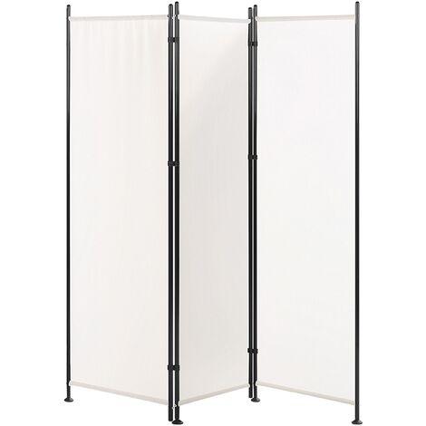 Paravent 3 volets 160 x 170 cm blanc NARNI