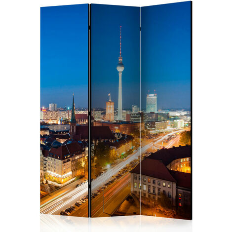 Paravent 3 volets - Berlin by night [Room Dividers] 135x172